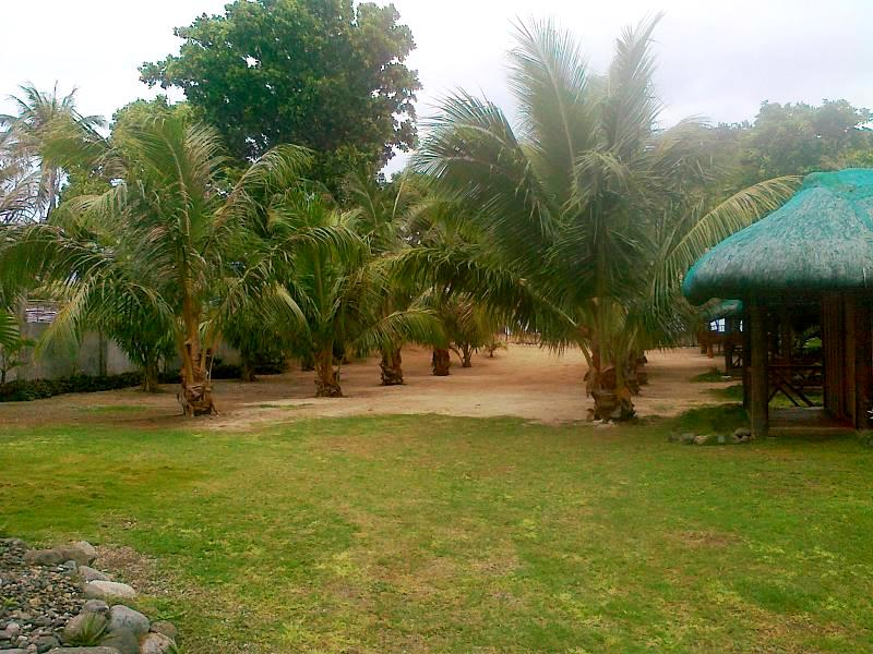 Kubo yard between seashore and main building
