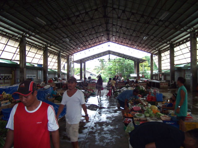Bangui Public Market view of afternoon, wet market has closed in the afternoon