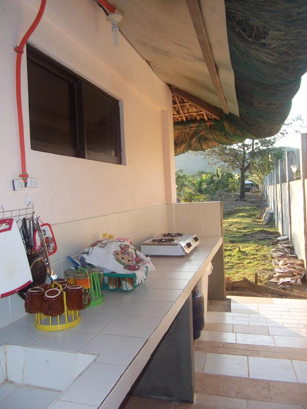 Open kitchen for camper and guest