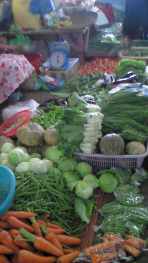 Assorted vegetables in the market