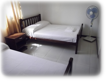 Two double-bed and Electric fan