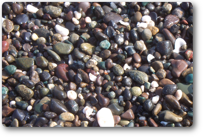 Assorted color of pebbles